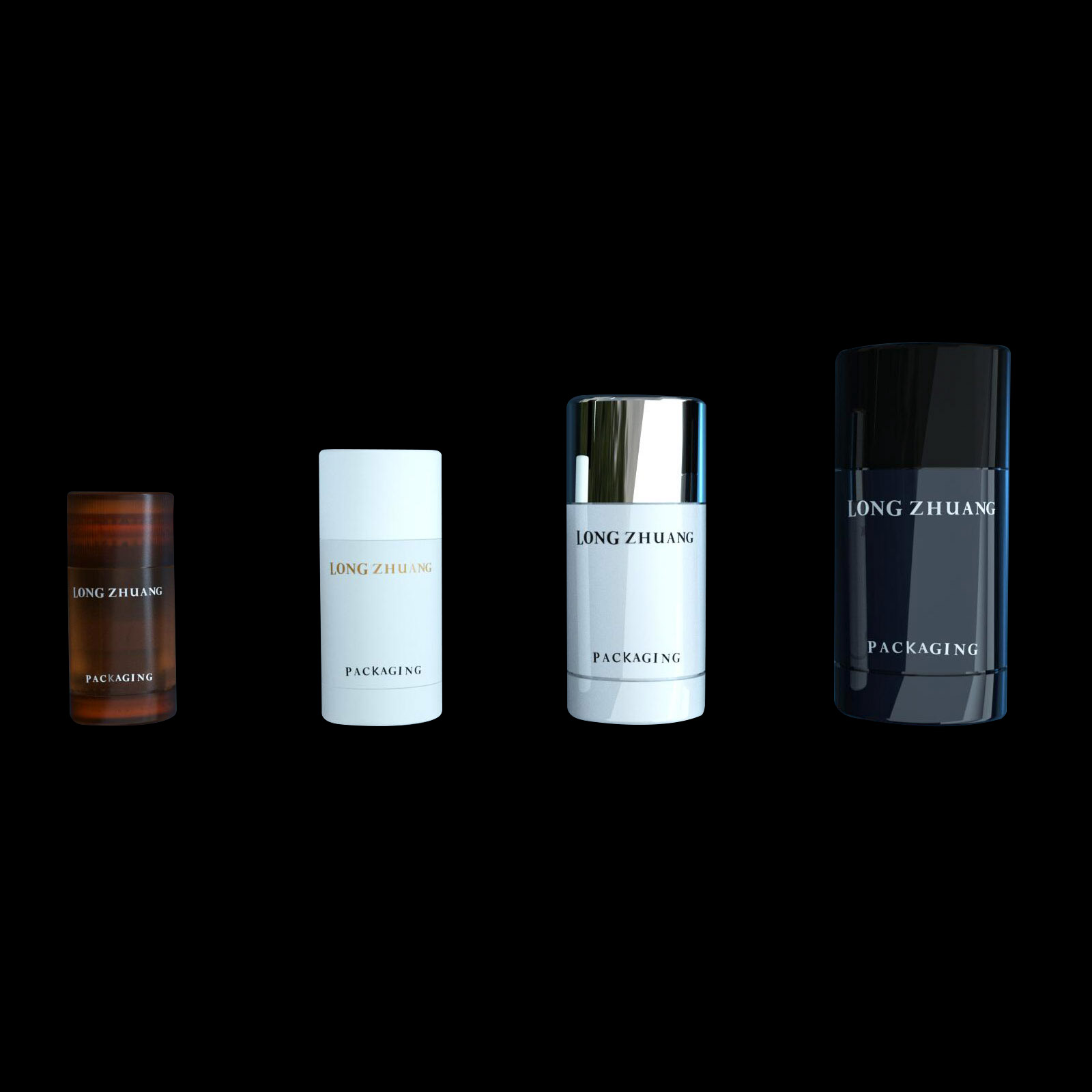 15ml 30ml 50ml 75ml deodorante stick bottiglia materiale SAN mens deodorant stick stick maschera solare